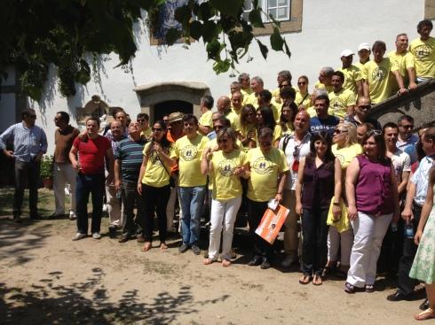 Os convivas, com a equipa de Veteranos do Sporting Clube de Portugal