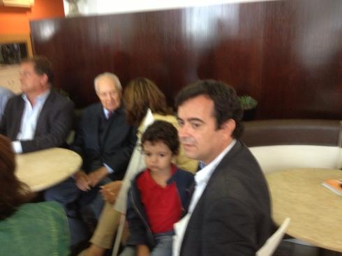 Em Buarcos, com Mário Soares